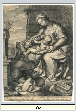 Holy Family engraving